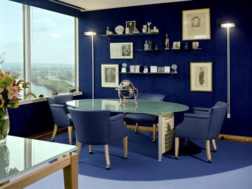 رنگ آمیزی محل کار,رنگ دفتر کار,رنگ مناسب برای دفتر کار