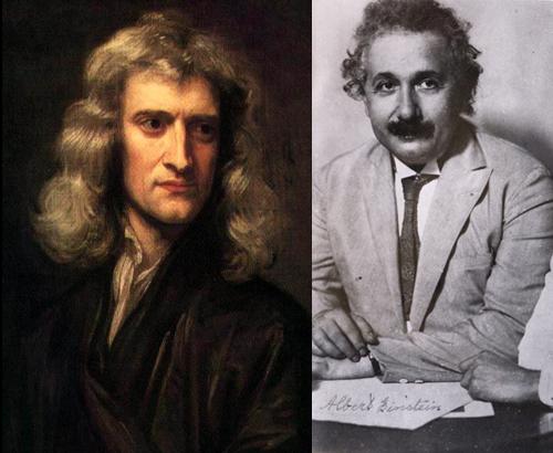 آلبرت انیشتین,انیشتین و نظریه نسبیت,انیشتین و نیوتن